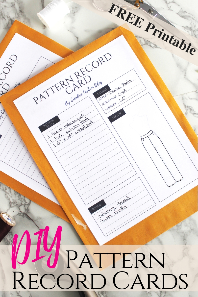 photo about Free Printable Sewing Patterns Pdf known as Arrange Your Sewing Layouts W/ Those people No cost Printable