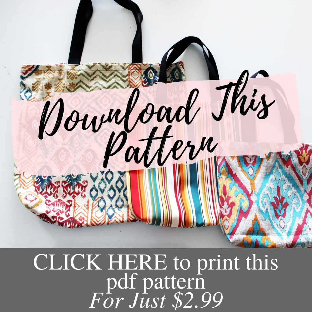 photograph regarding Printable Pattern titled Uncomplicated Tote Bag Habit w/ Video clip Guideline - Innovative Style Weblog