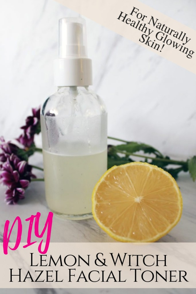 Lemon and witch hazel natural beauty recipe facial toner