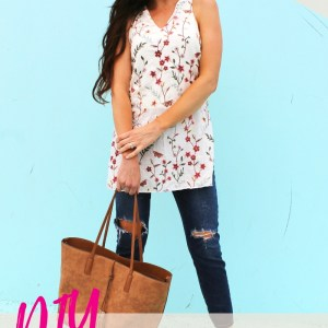 How to sew a blouse. DIY floral tunic dress for summer