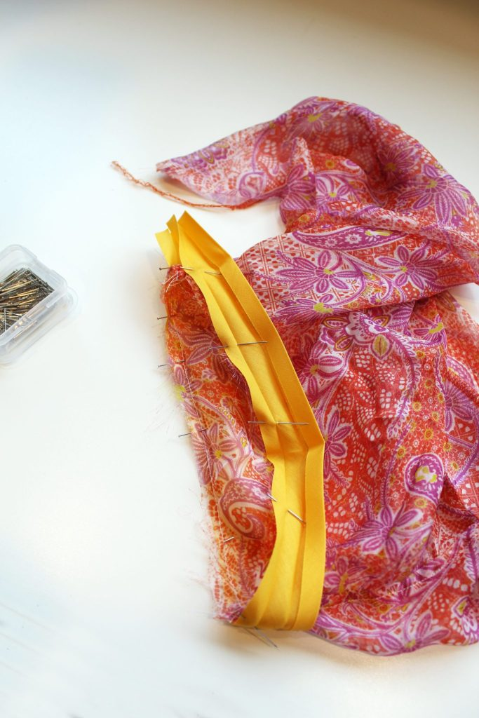 how to sew bias tape at home
