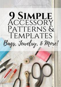 9 pdf bag sewing pattern templates