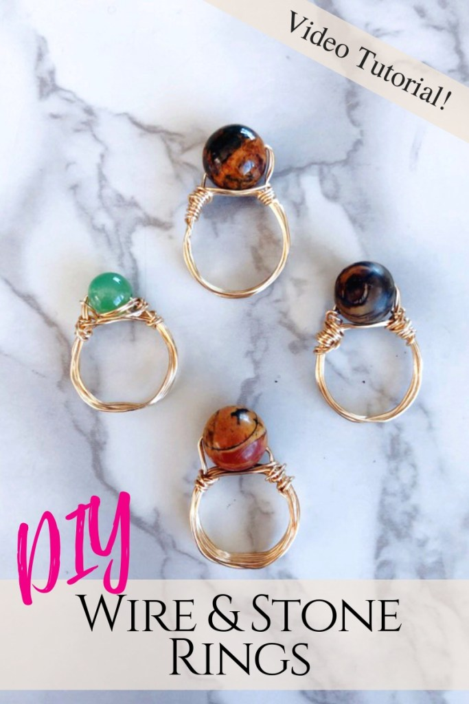 DIY Wire and stone Rings