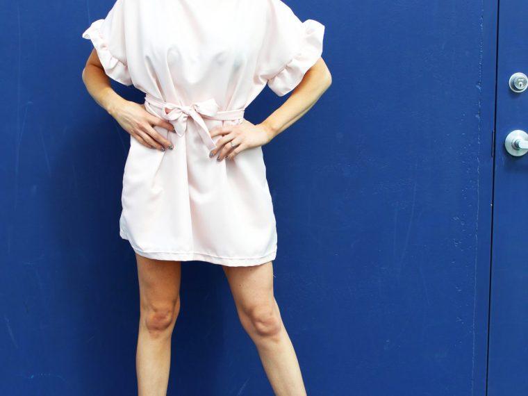 Sew a Simple Ruffle Sleeve Dress