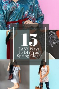 15 Ways to DIY your spring closet. Easy sewing projects for the beginner