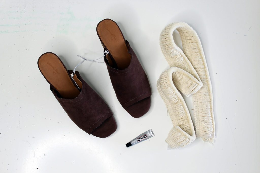 DIY shoes. boho shoe tutorial