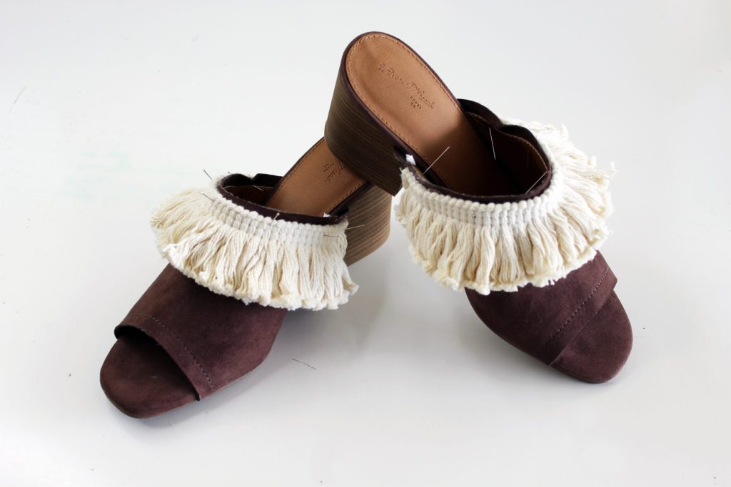diy shoes with no sew embellishments