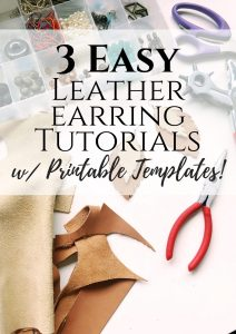 how to make leather earrings 3 different ways