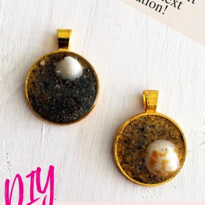 DIY sand and resin pendants jewelry making tutorial