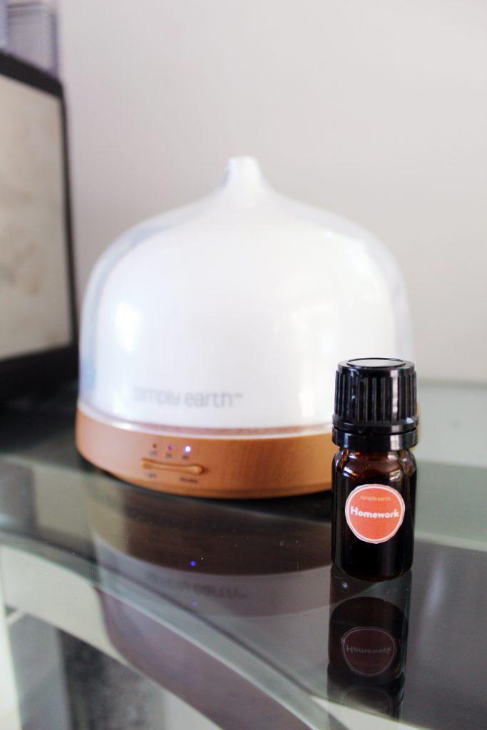 Homework Essential Oils Diffuser recipe by Simply Earth