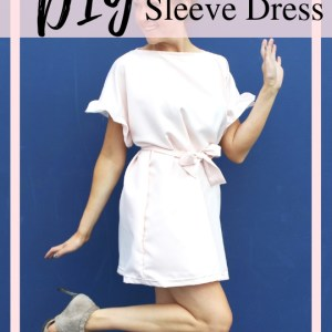 diy ruffle sleeve dress