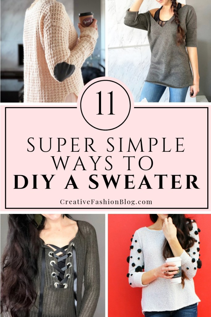 11 easy DIY sweater refashion ideas for women