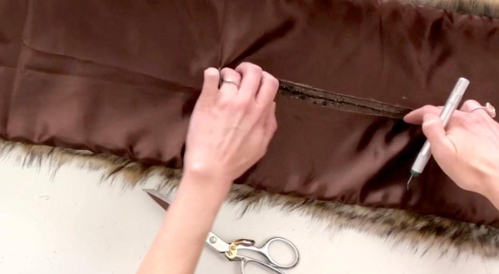 easy faux fur diy scarf