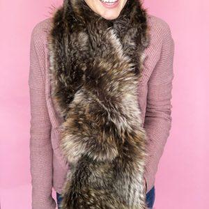 easy fur pull through scarf