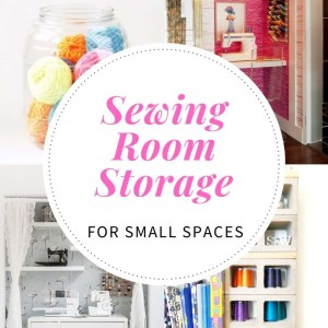 sewing room storage decor for small spaces