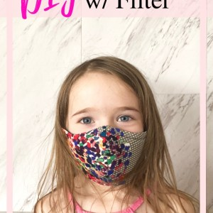how to make a face mask with filter for kids