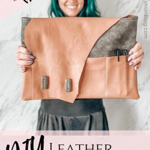 how to make a leather custom laptop sleeve