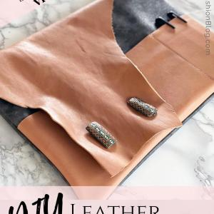 diy leather patterns to make a bag
