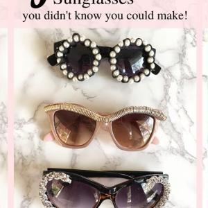How to make Chanel sunglasses at home