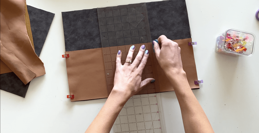 step 11 leather laptop pouch tutorial
