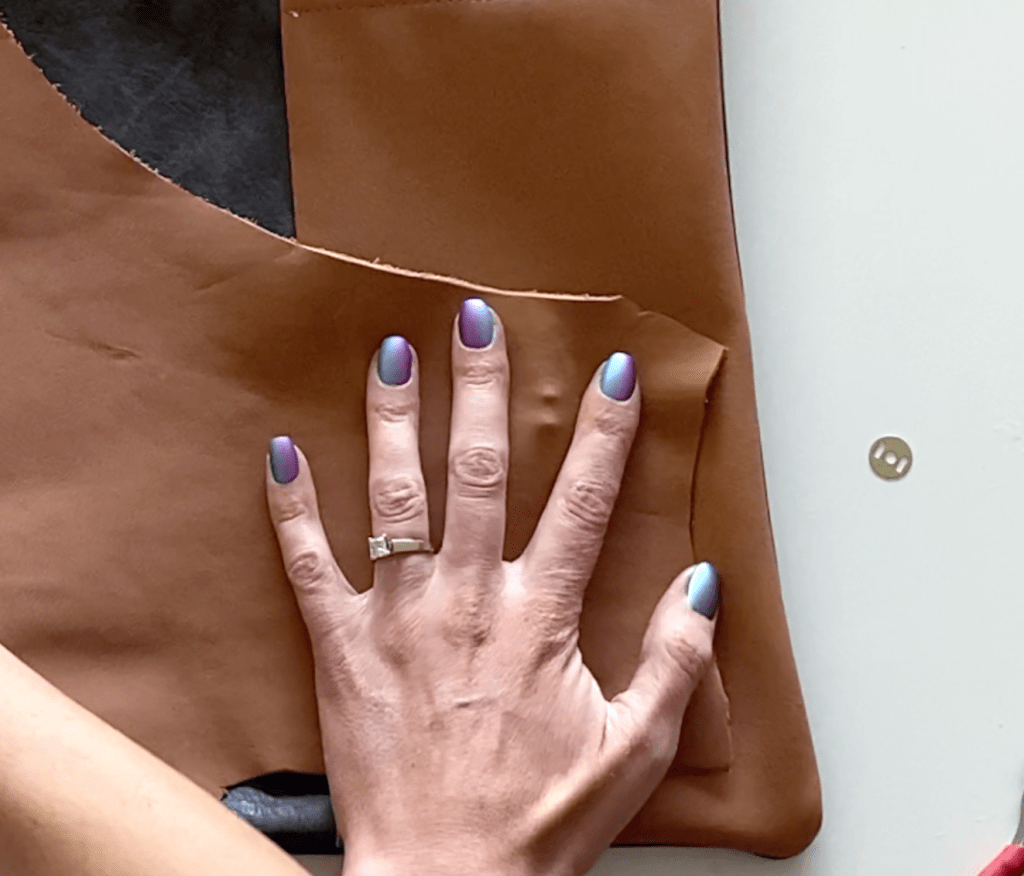 leather laptop pouch DIY tutorial step 10