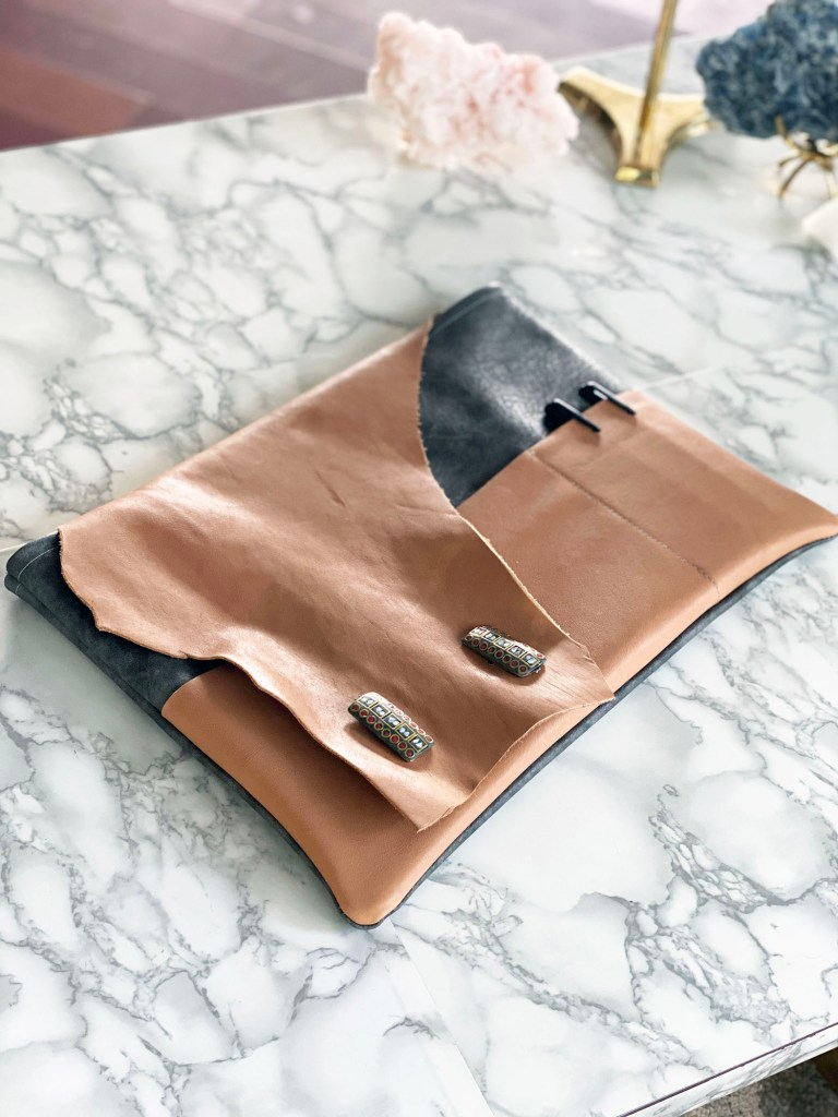 leather laptop pouch tutorial