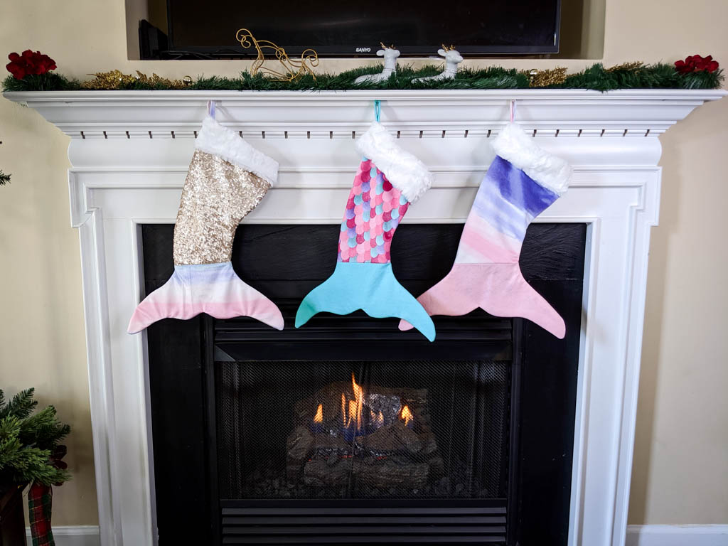Christmas Sewing Projects and mermaid stockings