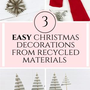 easy christmas decorations from recycled materials for Christmas