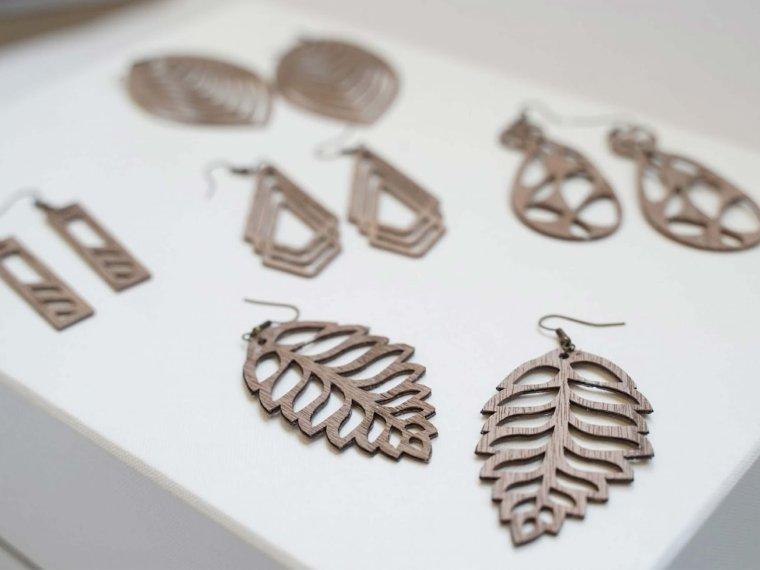 wood earrings for Cricut business ideas