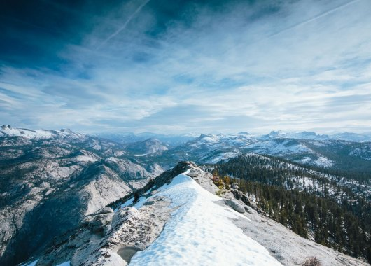 Time-lapse images moving Yosemite views