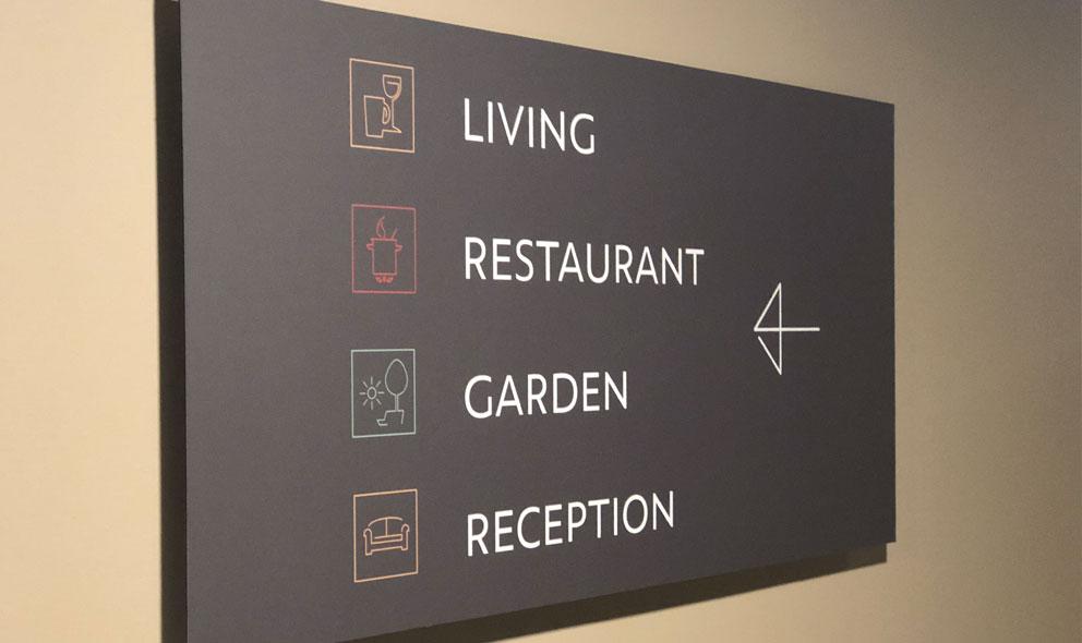 Guesthouse hotel vormgeving borden