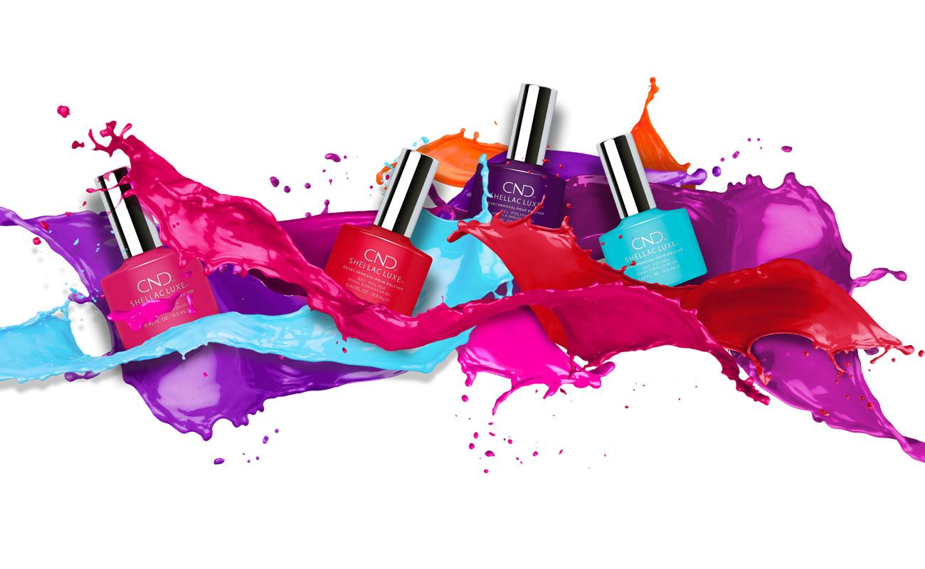 CND Beauty XL nagellak in verfspetters