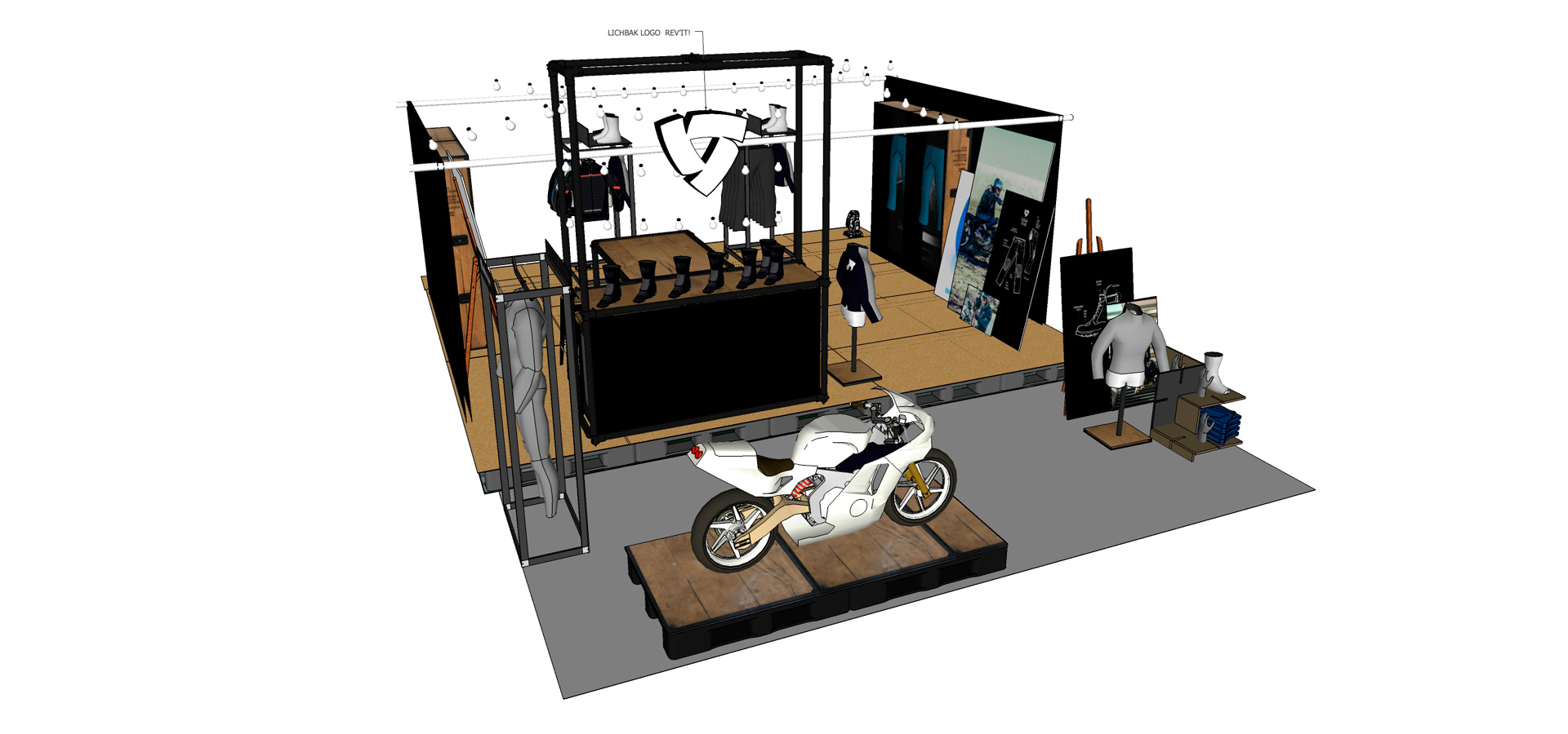 Rev'it Bikeshed computertekening