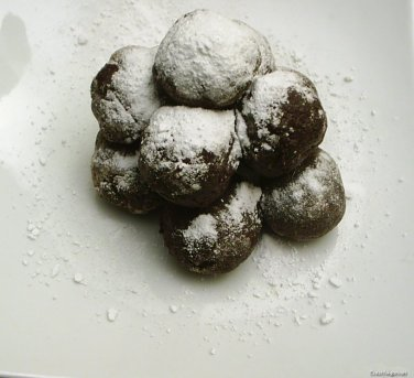 trufas de chocolate y platano