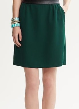 Piped A-Line Skirt Banana Republic, $98