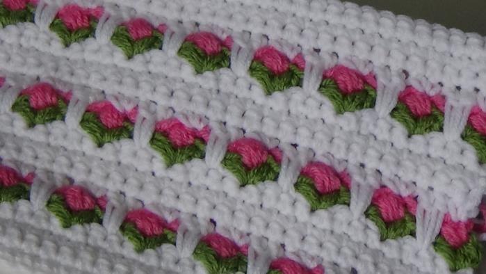 #232 Rosebud Tulip Stitch of the week new one