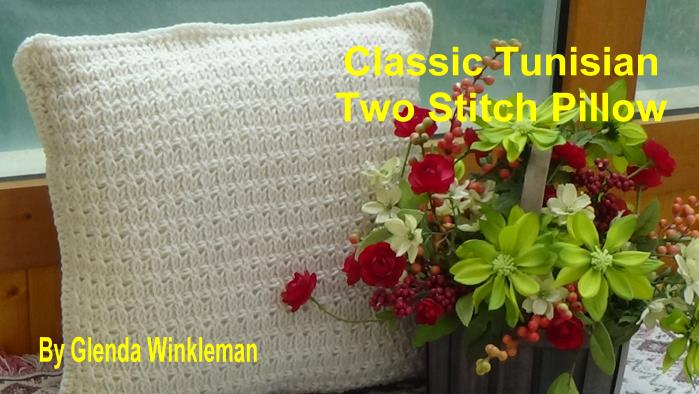 CG #122 Tunisian Two Stitch Pillow pic