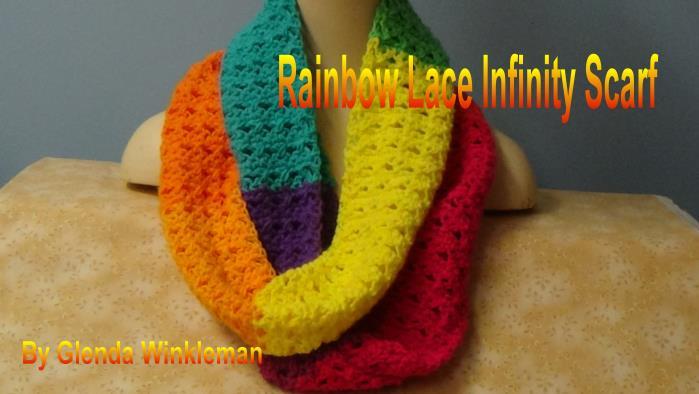 CG #129 Rainbow Infinity Scarf pic