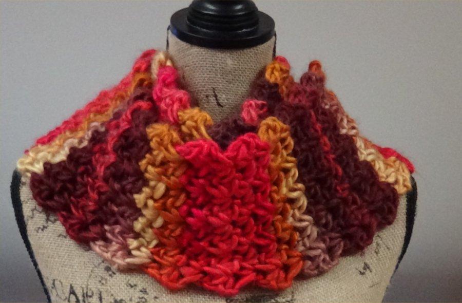 Chunky V stitch scarf Columbus