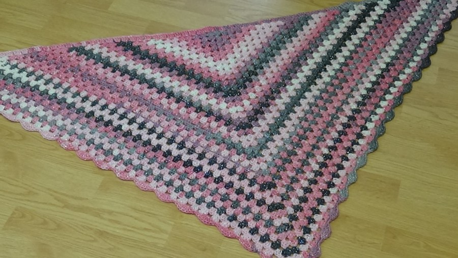 # 613 Glitz and Glamour Granny Triangle Shawl