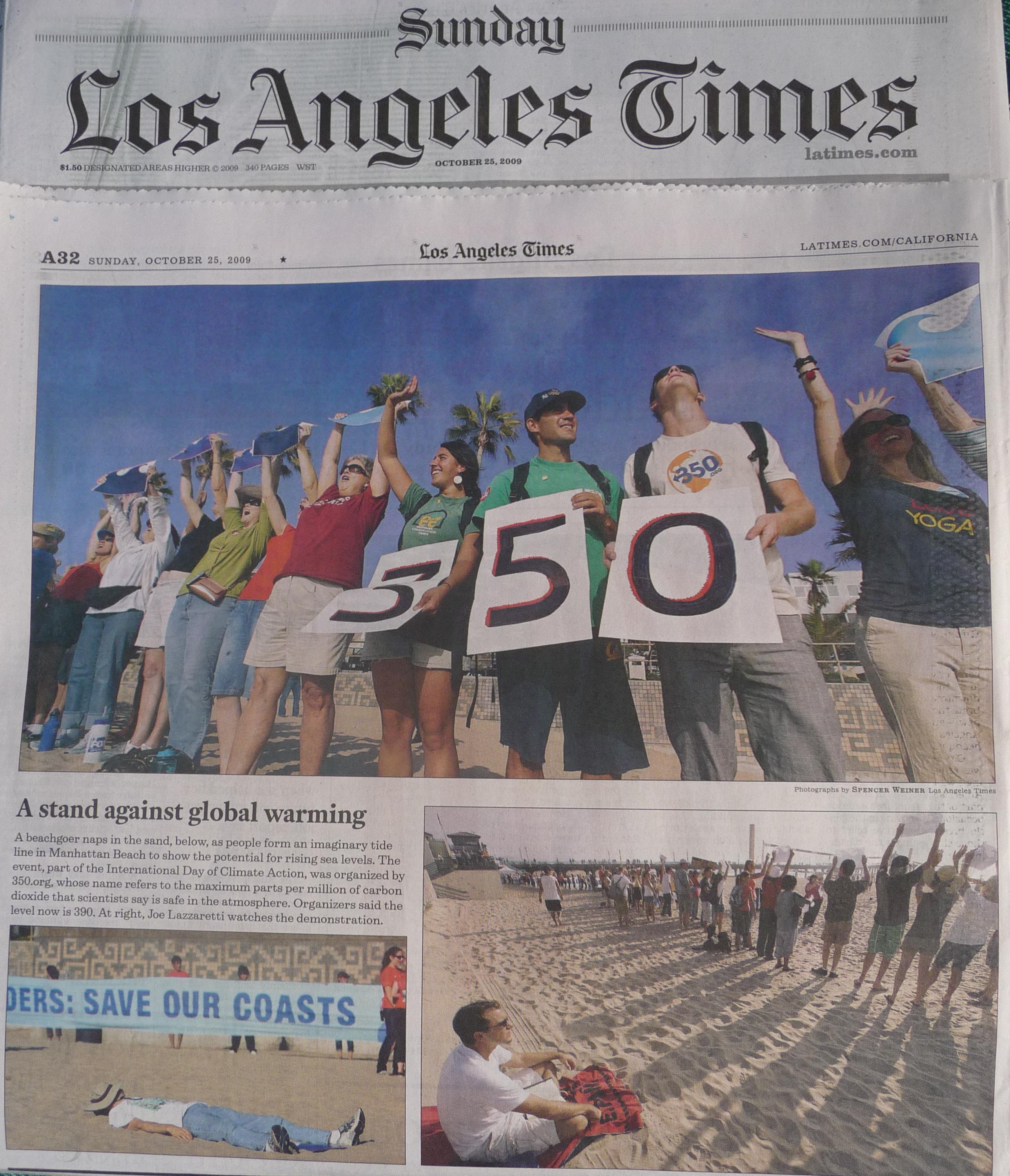 Oct 25 LA Times 350 Coverage