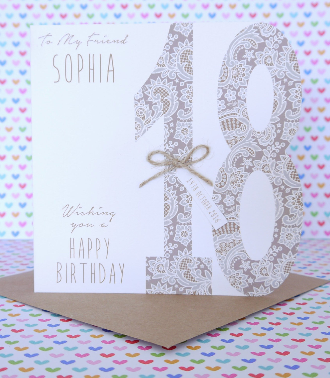 Beautiful Personalised Handmade Birthday Card 18th21st