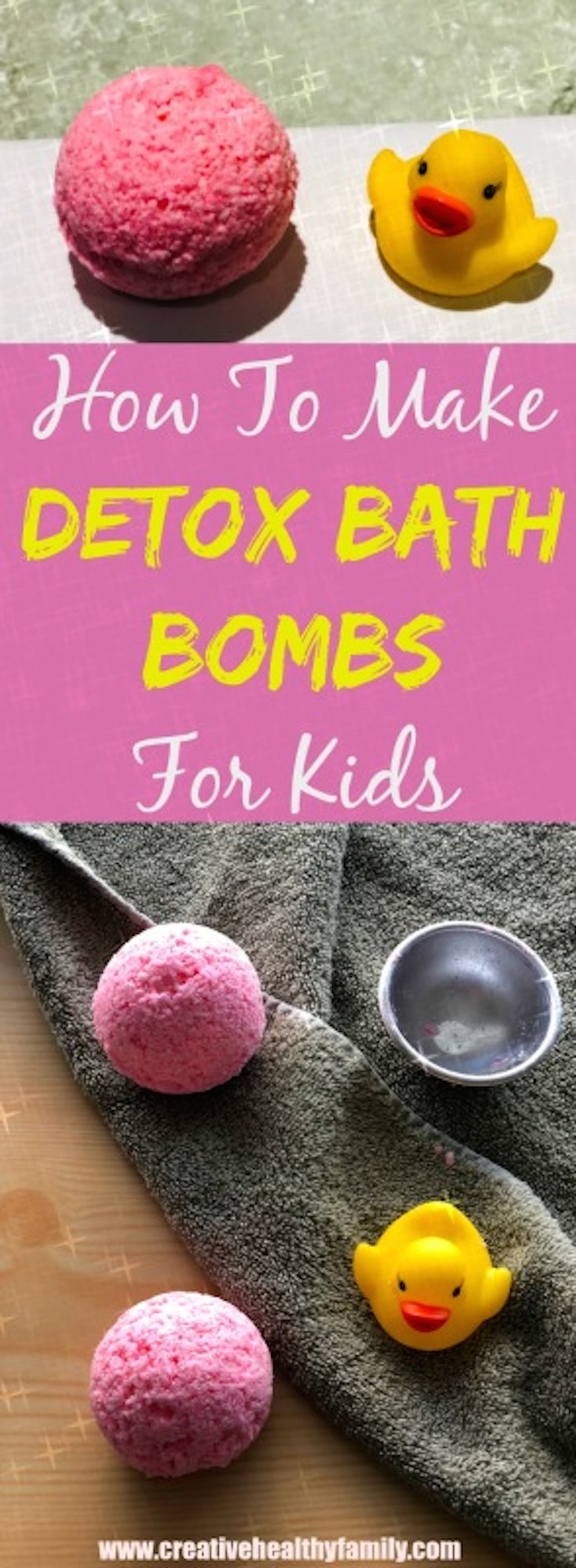 Detox bath bombs for kids