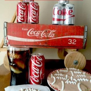 Football Cookies with Coca-Cola Icing #ShareYourSpirit #Ad #cbias   www.housewivesofriverton.com