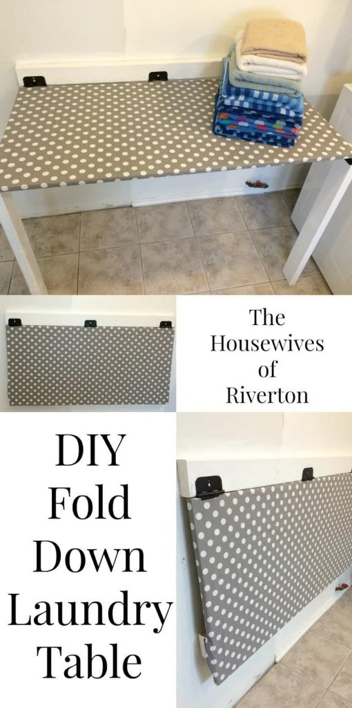 DIY Fold Down Laundry Table | www.housewivesofriverton.com