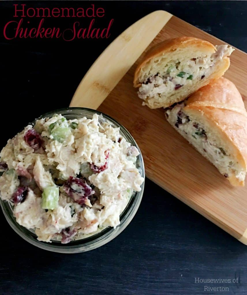 Homemade Chicken Salad is perfect for picnics, potlucks, or just everyday meals! | www.housewivesofriverton.com