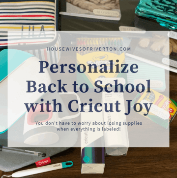Personalize Back to School with Cricut Joy