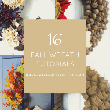 16 Fall Wreath Tutorials