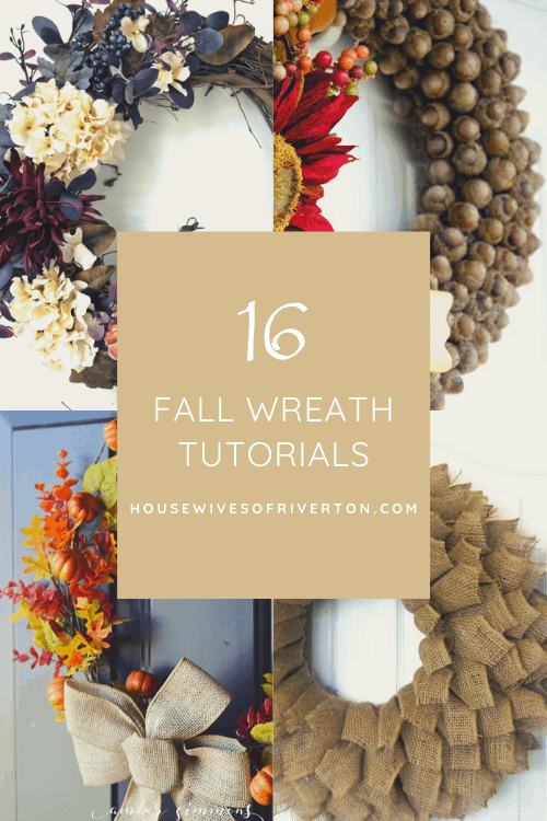 fall wreath tutorials