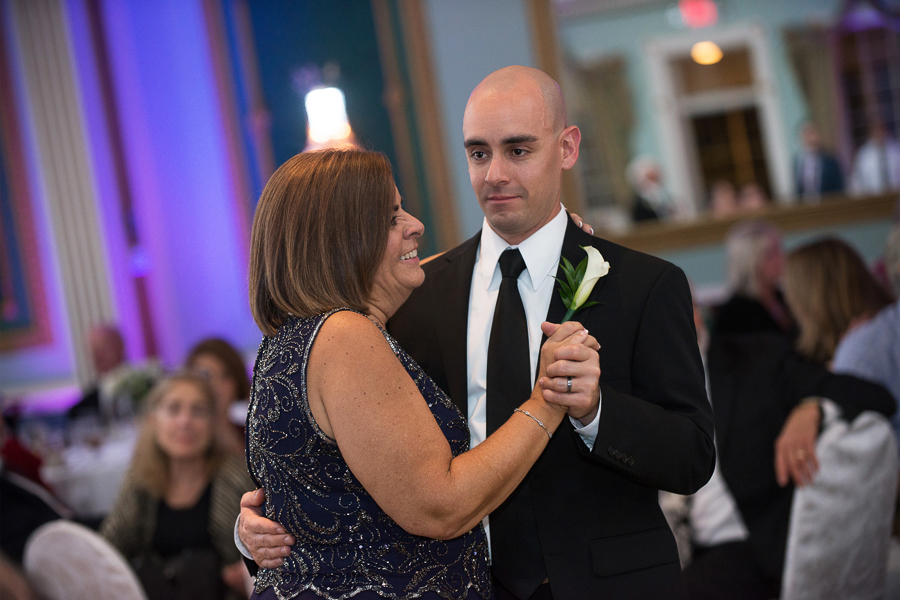 Mother son dance at the reception